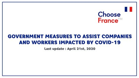 French Government measures to assist companies & workers impacted by (...)