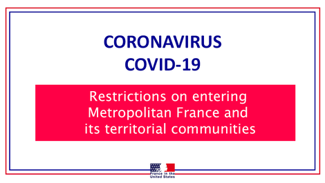 COVID-19 || Restrictions on entering Metropolitan France and its (...)