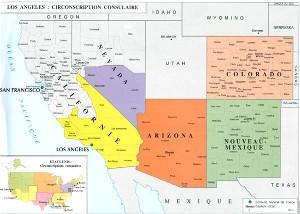 Map Of Arizona Nevada And California.Residency In Southern California Arizona Colorado Southern Nevada
