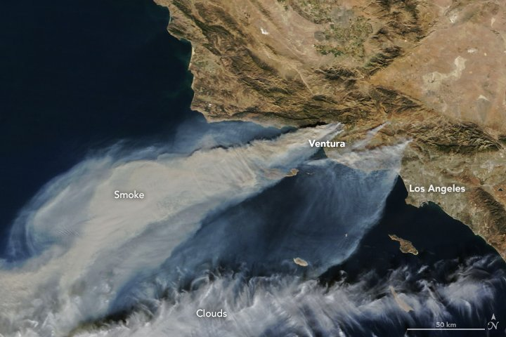 California fires from Space by NASA - JPEG
