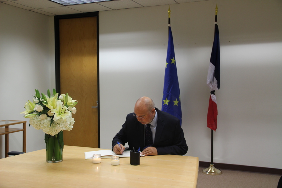 Consul General Of Chile Jorge Tagle Canelo Signed The Book Condoleance At French Consulate